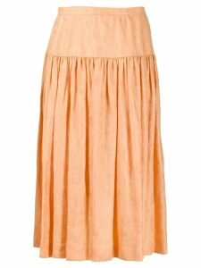 VALENTINO PRE-OWNED 1980's flared midi skirt - Orange