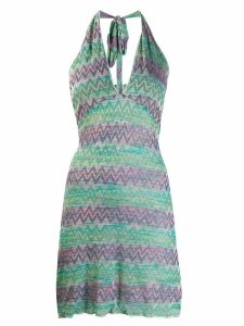 Missoni Pre-Owned 1990's fitted zig-zag dress - Green