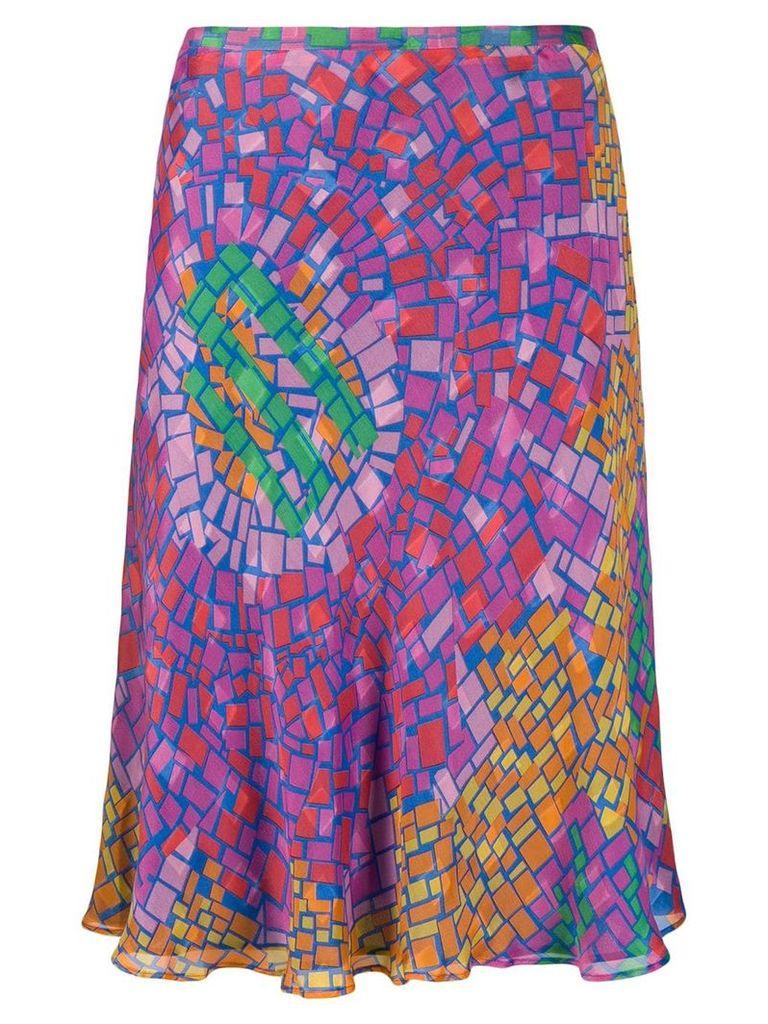 Jean Louis Scherrer Vintage 1990's mosaic printed skirt - Multicolour