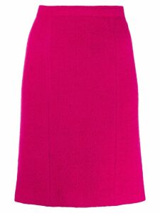 CHANEL PRE-OWNED 1980's straight skirt - Pink