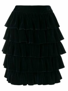 Chanel Pre-Owned 2001's ruffled skirt - Blue