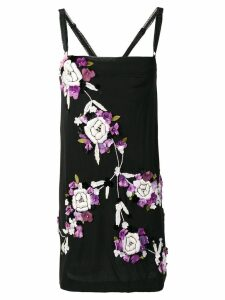 Dolce & Gabbana Pre-Owned 2000's embroidered floral dress - Black