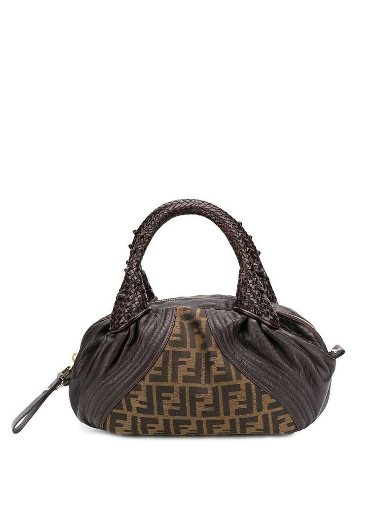 Fendi Vintage 2000's Bauletto Zucca Bag - Brown