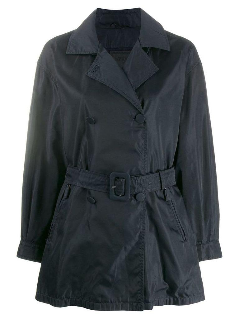 Prada Vintage impermeable relaxed short trenchcoat - Blue