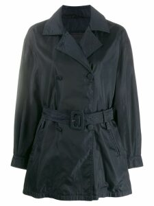 Prada Vintage impermeable relaxed short trenchcoat - Blue