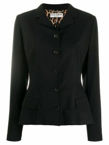 Dolce & Gabbana Pre-Owned slim buttoned blazer - Black