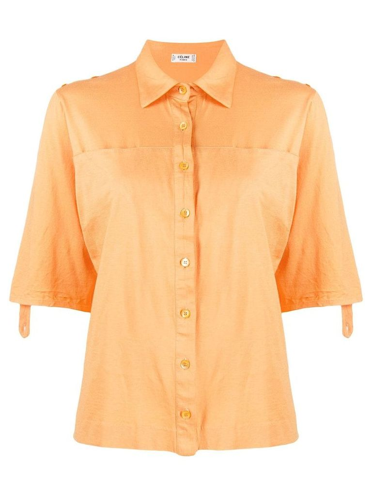 Céline Vintage loose shortsleeved shirt - Orange