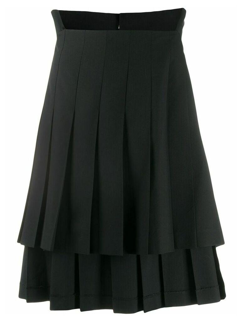 Comme Des Garçons Vintage layered pleated skirt - Black