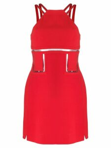 Versace Pre-Owned silk clear-detailed mini dress - Red
