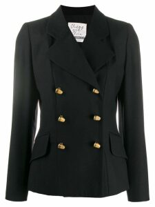 Moschino Pre-Owned virgin wool double-breasted blazer - Black