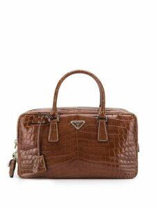 Prada Pre-Owned 2000's crocodile leather handbag - Brown