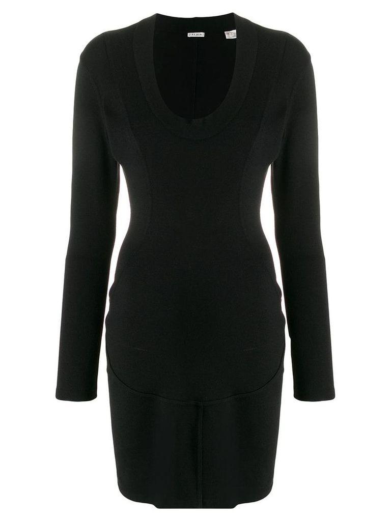 Alaïa Vintage fitted mini dress - Black