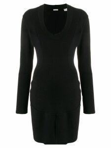 Alaïa Pre-Owned fitted mini dress - Black