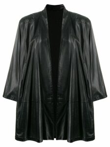 Gianfranco Ferre Pre-Owned oversized open coat - Black