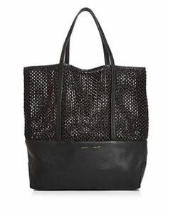 Alice.d Large Leather & Raffia Tote