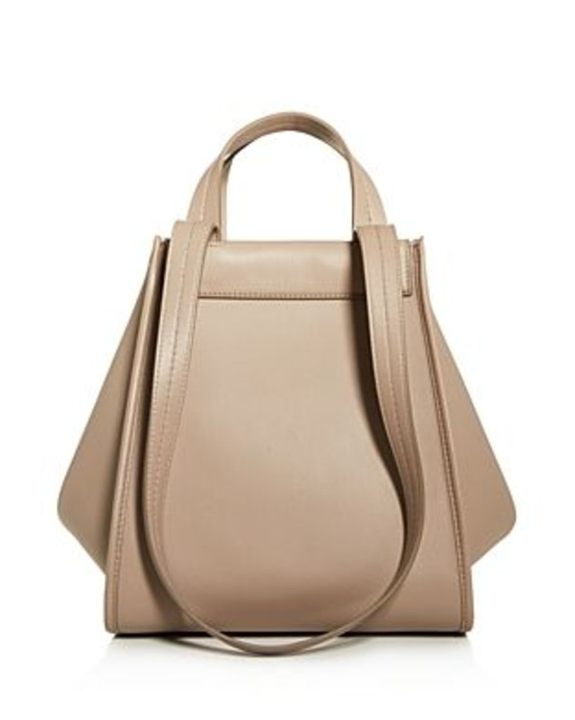 Max Mara Leather & Cashmere Large Reversible Tote