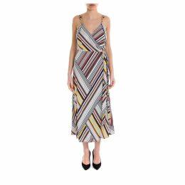 Tory Burch Striped Jersey Wrap Dress