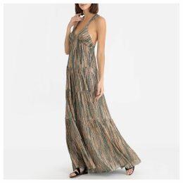Salsa Sparkly Open Back Maxi Dress