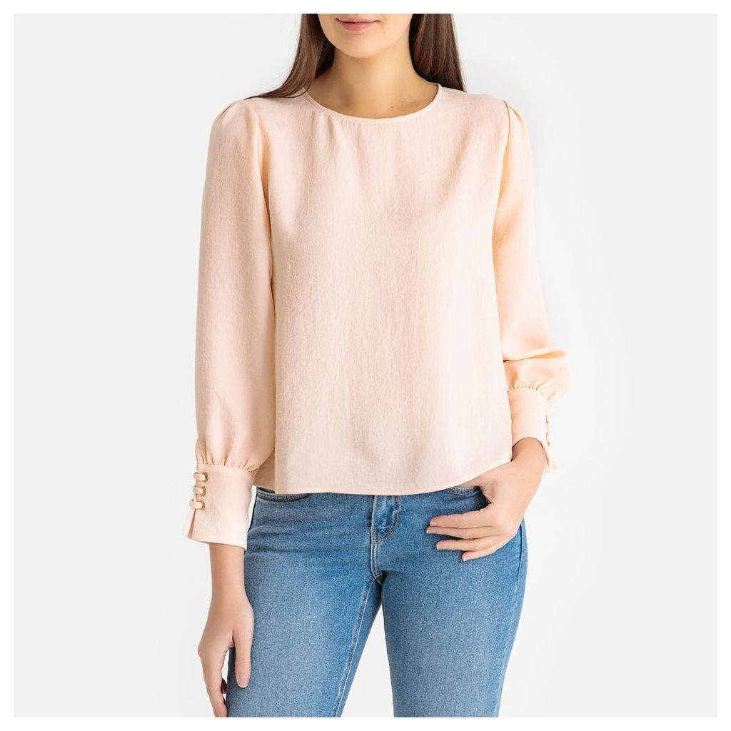 Camila V-Neck Blouse with Lacing on the Long Sleeves
