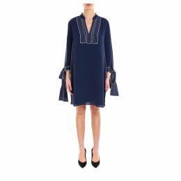 Tory Burch Contrast Silk Tunic Dress