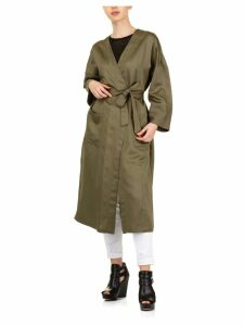 SEMICOUTURE Olive Wrap Coat