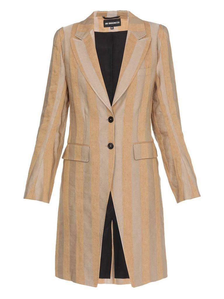 Ann Demeulemeester Striped Coat