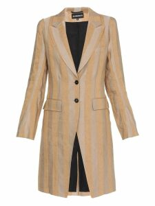 Ann Demeulemeester Striped Coat