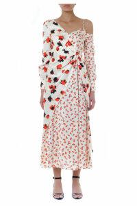 self-portrait Red & Ivory Satin Flower Long Dress