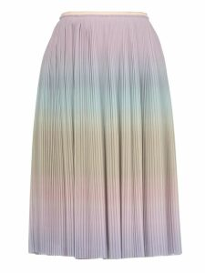 Marco de Vincenzo Mullticolor Pleated Skirt