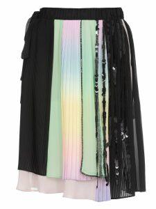 Marco de Vincenzo Multicolor Pleated Skirt