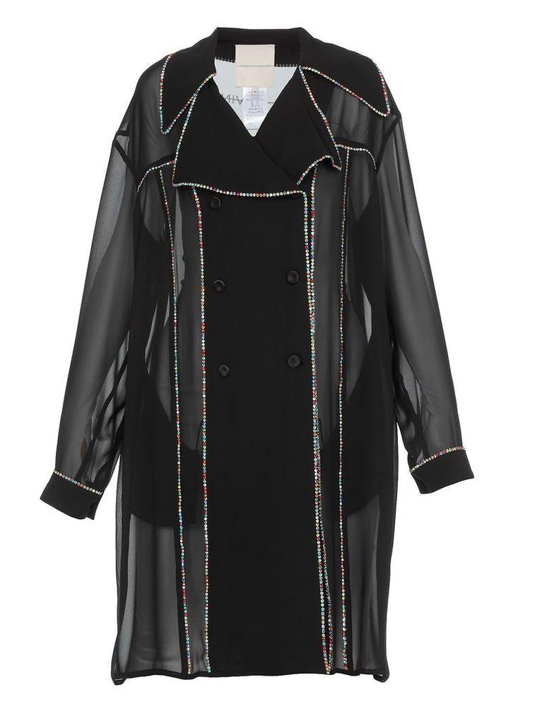 Marco de Vincenzo Double Breasted Sheer Coat