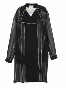 Marco de Vincenzo Double Breasted Sheer Coat