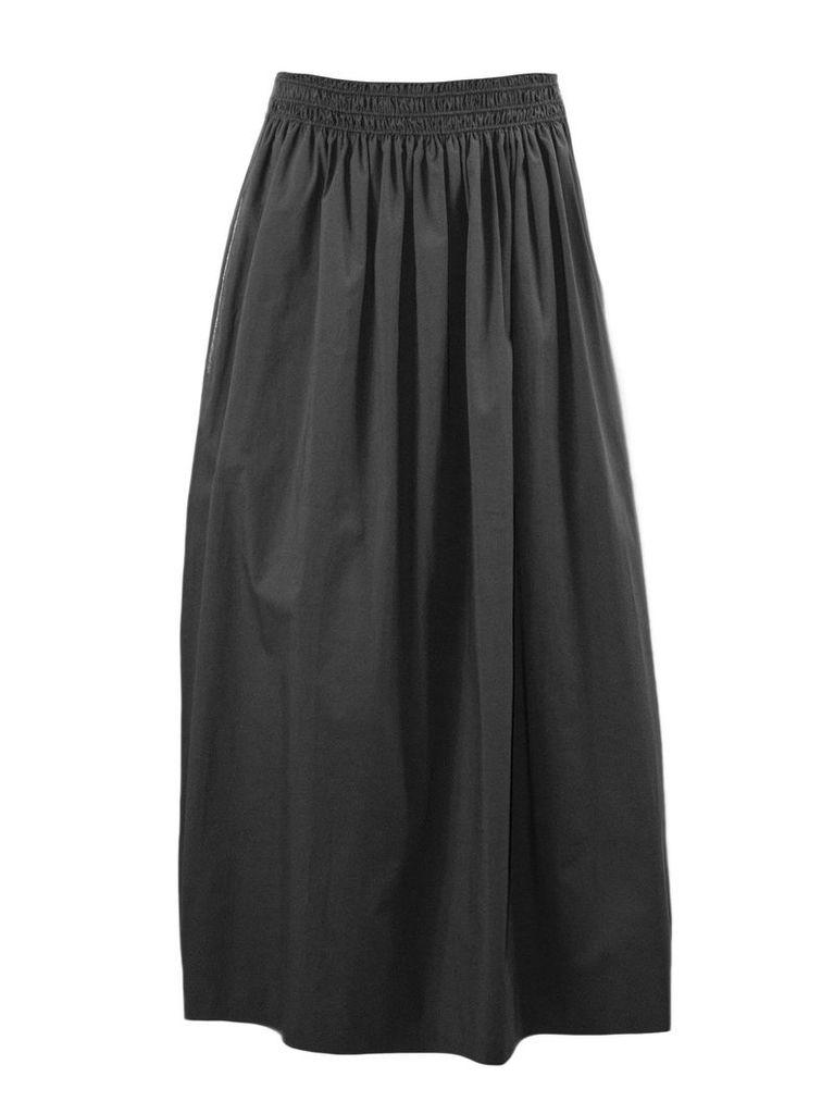 Fabiana Filippi Grey Popelin Cotton Skirt