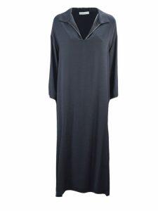 Fabiana Filippi Blue Viscose Cady Dress