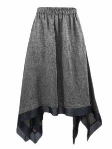 Fabiana Filippi Grey Linen Skirt