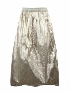Fabiana Filippi Gold Toned Lightweight Metallic Skirt