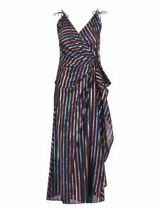 The Attico Striped Lurex Dress