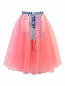 Ben Taverniti Unravel Project Tulle Denim Skirt