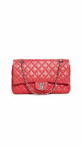 What Goes Around Comes Around Chanel Red Caviar 2.55 10 Flap Bag