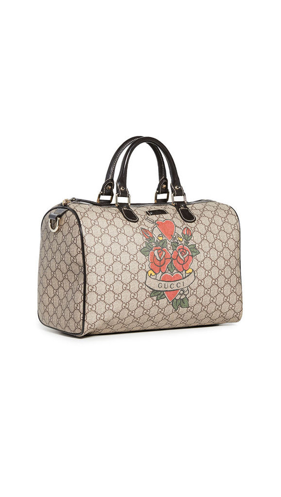 What Goes Around Comes Around Gucci Brown Boston Joy Bag