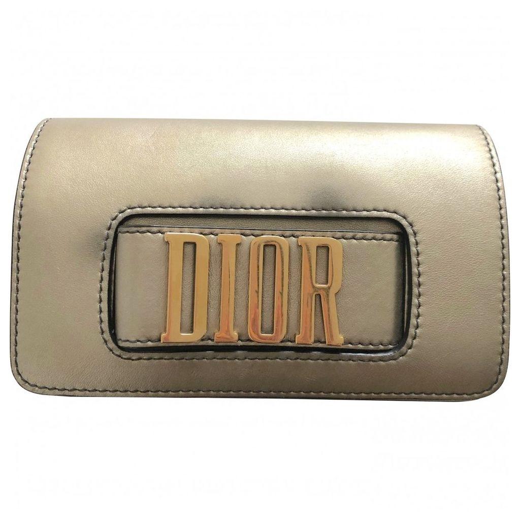 Dio(r)evolution leather clutch bag