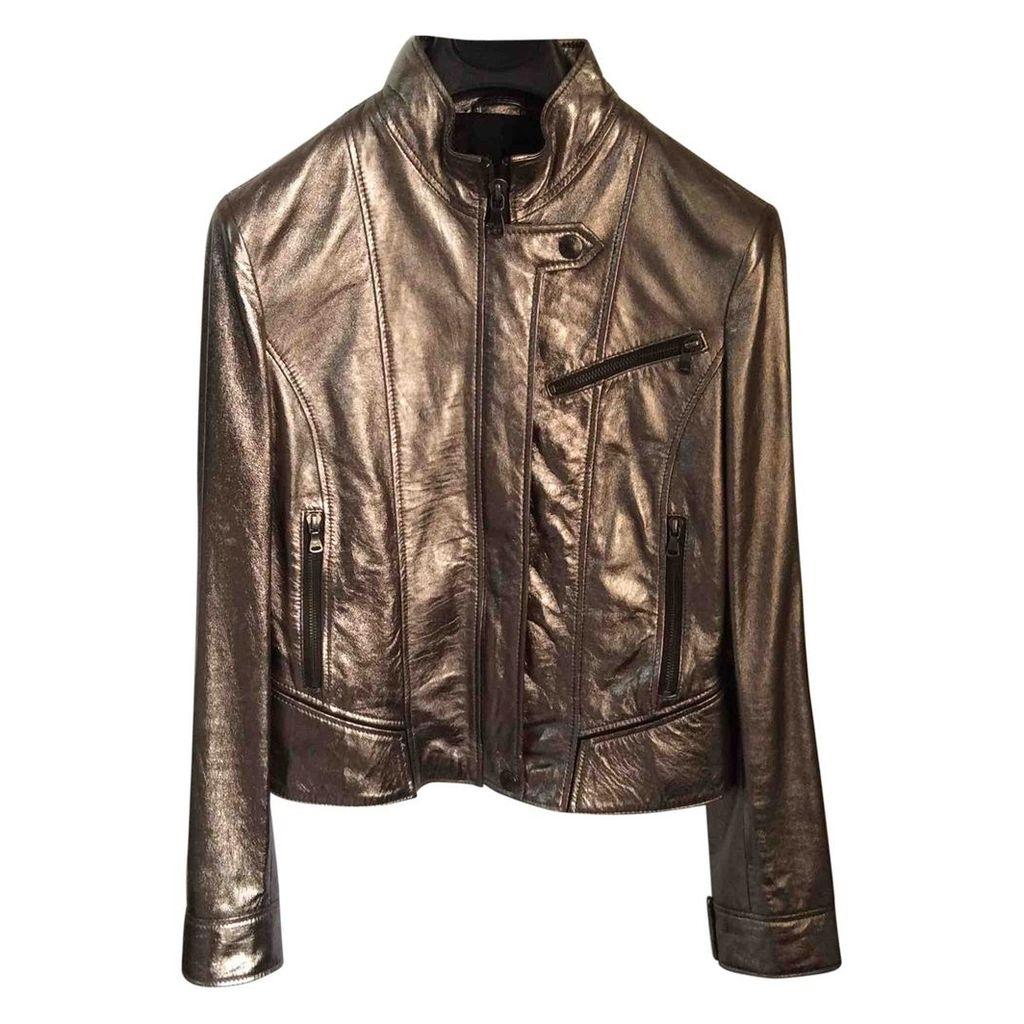 Leather short vest