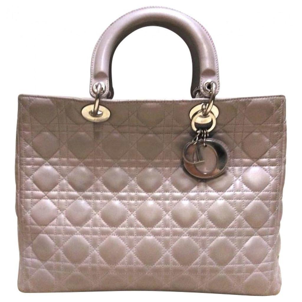 Lady Dior leather handbag
