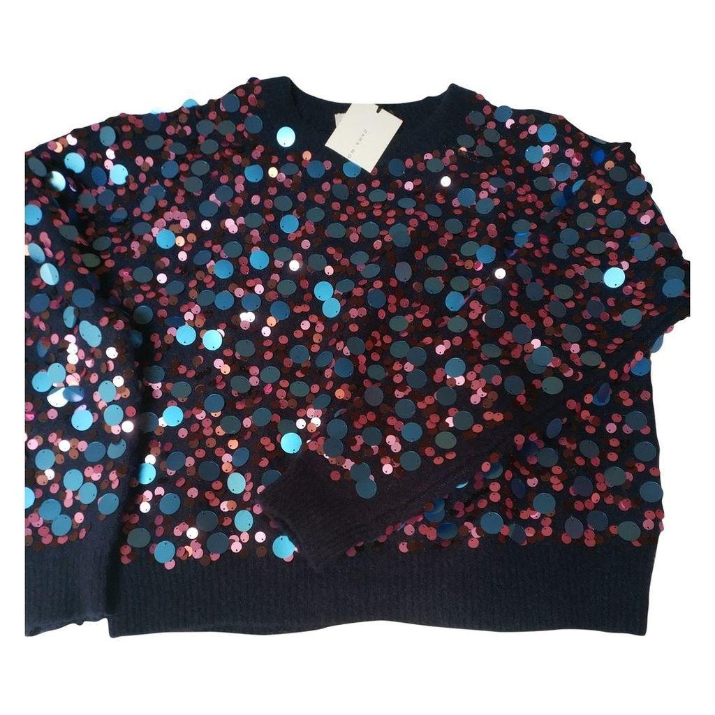 Blue Synthetic Knitwear