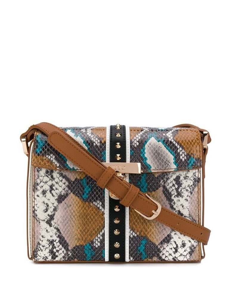 Liu Jo snakeskin effect crossbody bag - Brown