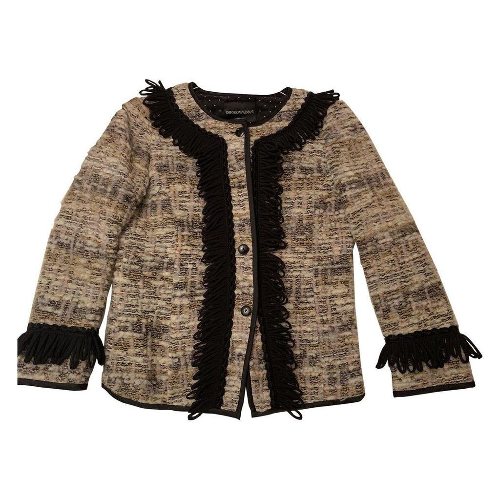 Tweed short vest