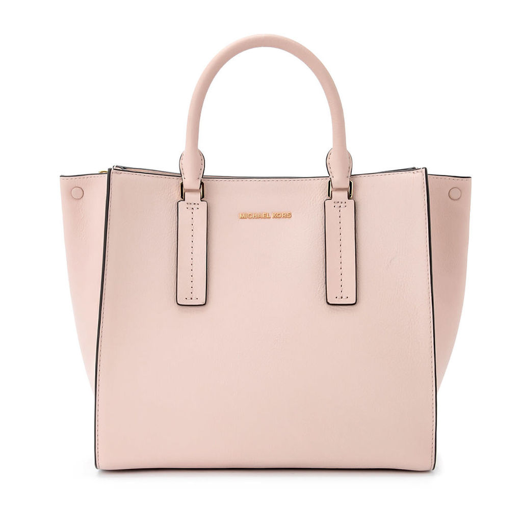 Michael Kors Alessa Pale Pink Tumbled Leather Handbag.