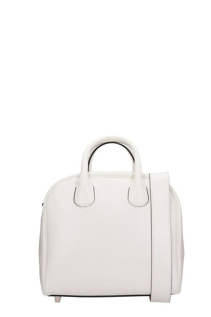 Christian Louboutin White Leather Marie Jane Nano Bag