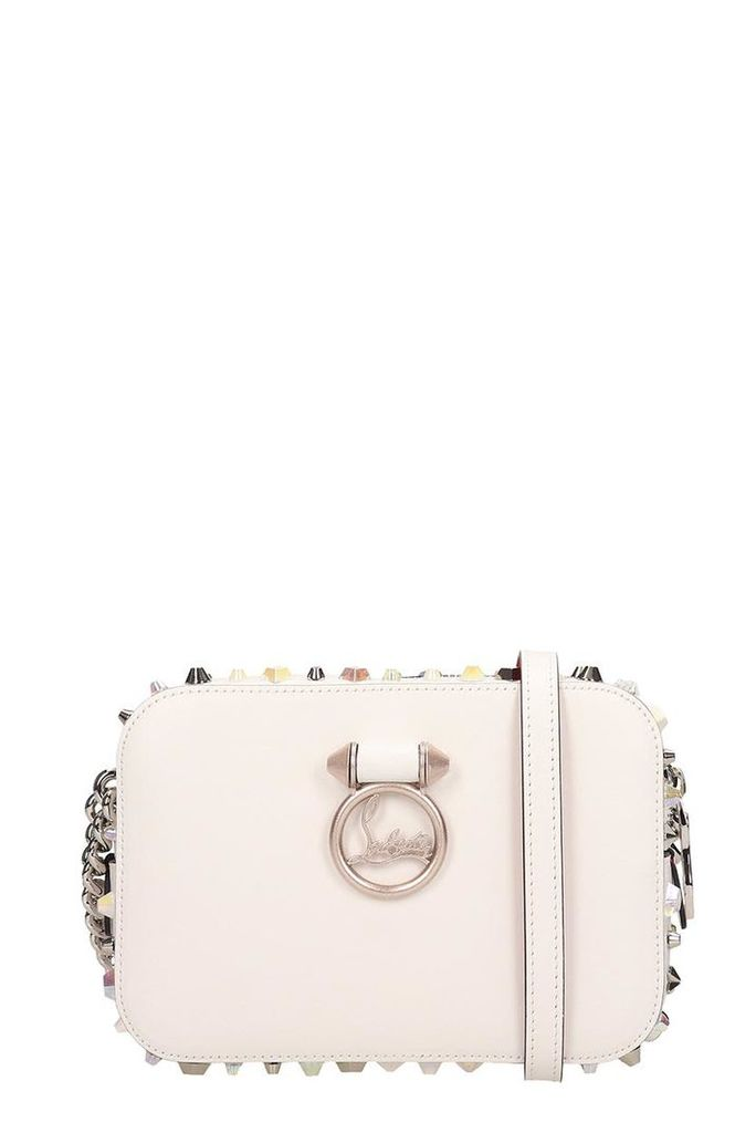 Christian Louboutin White Leather Rubylou Mini Bag