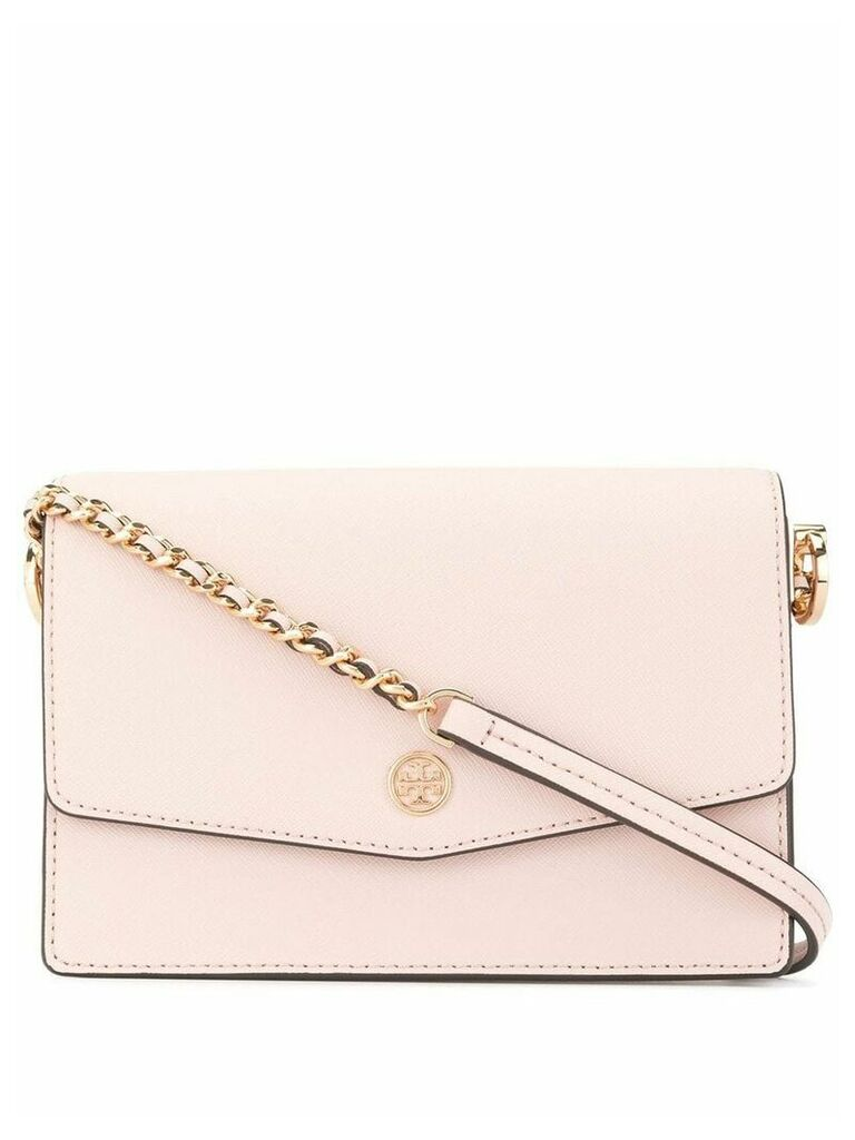 Tory Burch Robinson saffiano mini shoulder bag - Pink